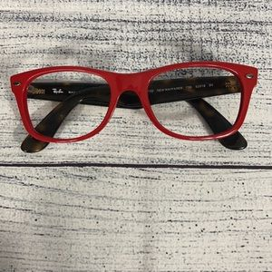 Ray Ban New Wayfarer Red w/ Brown Glasses